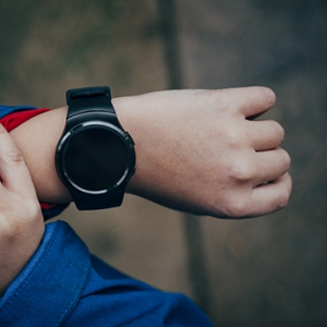 Smartwatch on a Boy's Hand